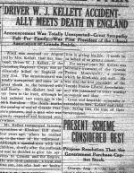Newspaper Clipping– GRAND PRAIRIE HERALD August 14 1917