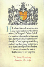 Memorial Card– Remembered by the Rogers and Haddlesey families.