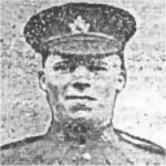 Photo of David Barry– A photograph of David Barry, who was a native of Bellahill, Ballycarry Co., Antrim, Northern Ireland, from the Larne Times, September 30, 1916. He was the son of Robert Barry of Bellahill. Pte Barry is remembered each year in an act of remembrance in his home community in County Antrim.