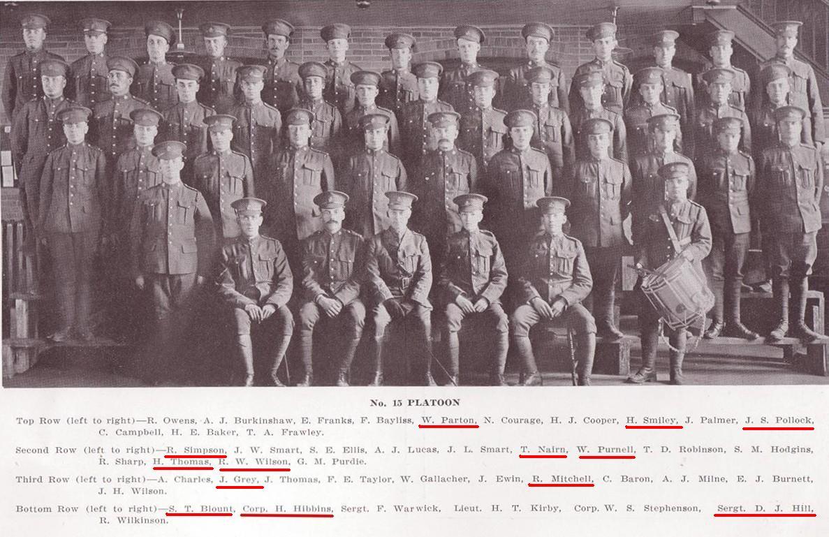 15th Platoon, D Company, 101st Battalion