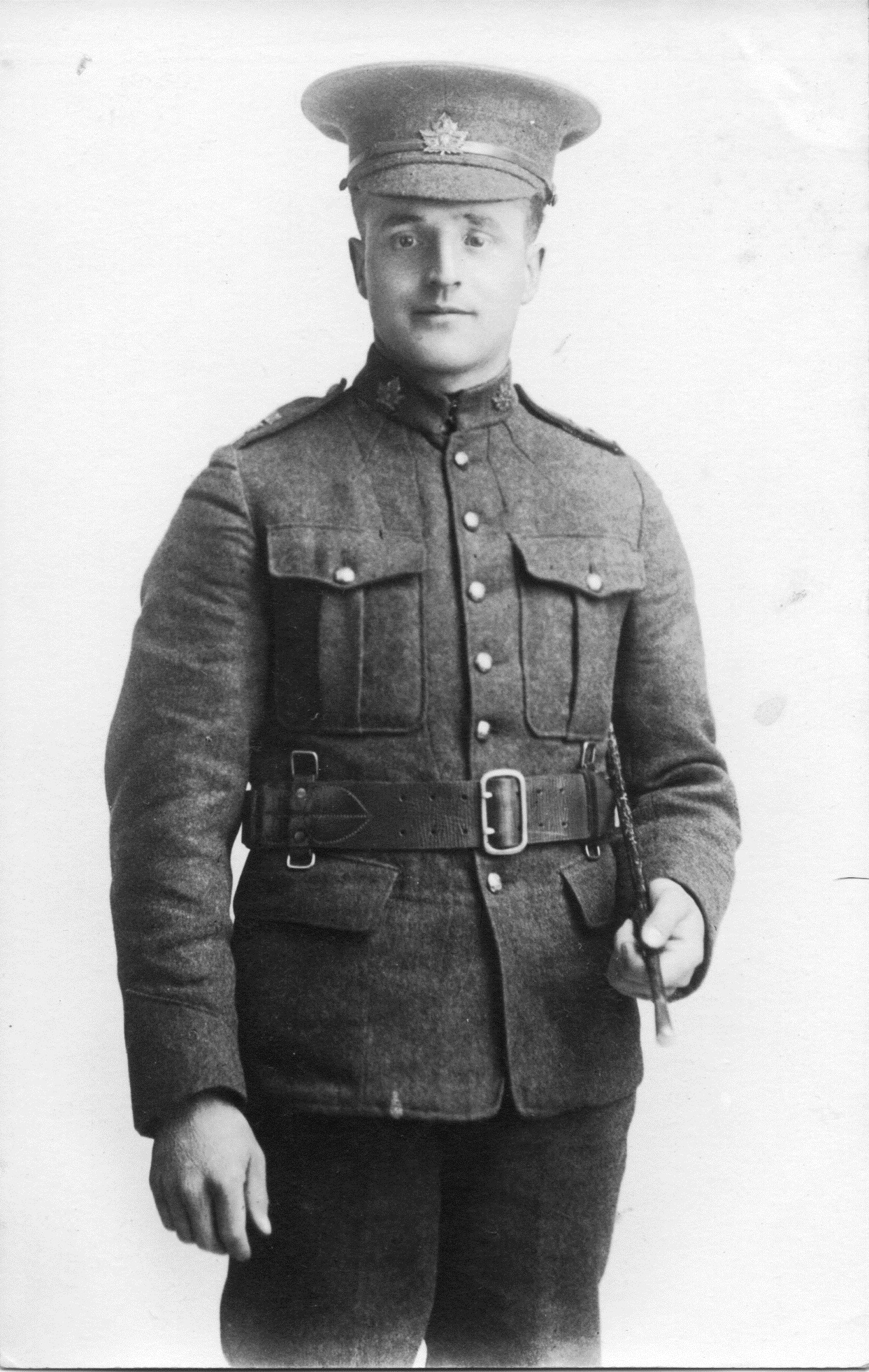 Photo of William Lester– William Lester in the uniform of the 101st Winnipeg Light Infantry