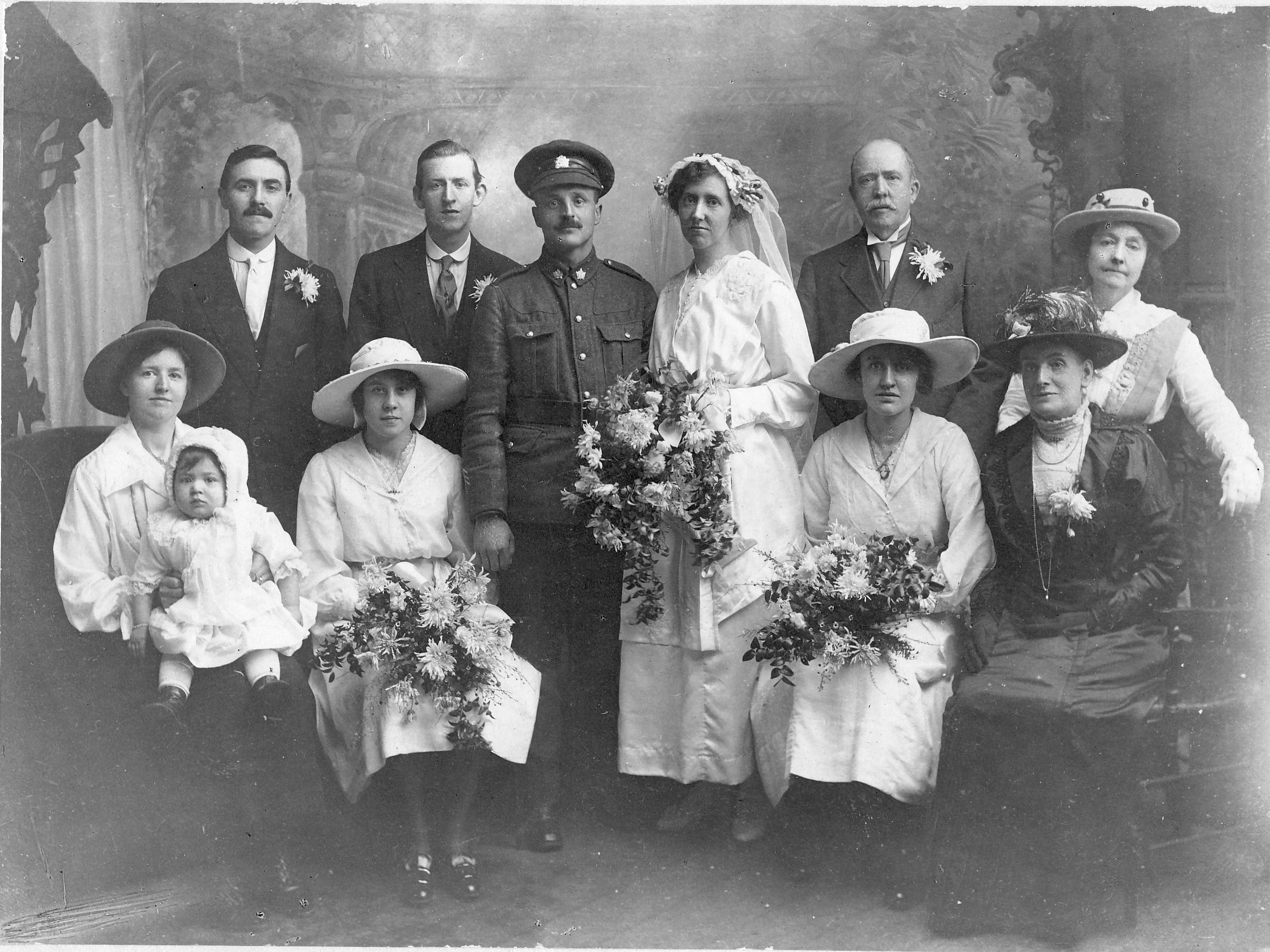 Wedding– William Lester in uniform at his marriage to Susannah James