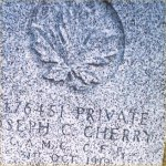 Gravemarker– Photo courtesy of N. Bruce Cameron, Winnipeg, October 2003.