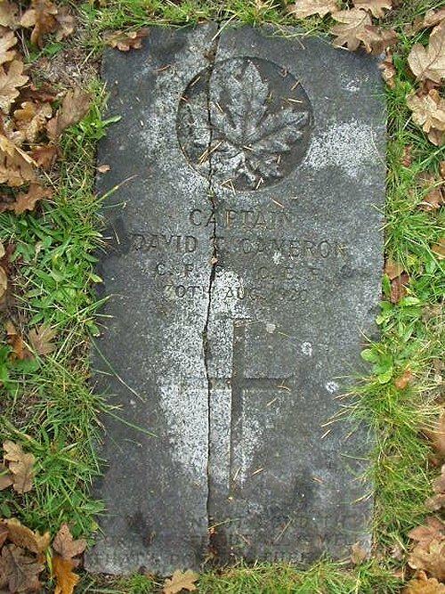 Gravemarker for David Cameron