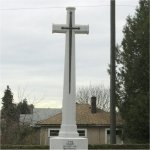 Cross of Sacrifice– Memorial cross in the section where 464128 Thomas Acton was laid to rest in the Mountain View cemetery of Vancouver BC