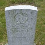 """Grave Marker– Grave of 116779 Pvt. Herbert Bradley who served with the 72nd Battn. C.E.F. Born in Dover England on Jan. 5th 1900. (He said he was born Jan. 5th 1898) He first enlisted at age 16 with the 11th Canadian Mounted Horse at Victoria BC on April 29th 1916 he was later sent to the 72nd Battn. He listed his occupation as """"Waiter""""  Herbert died on Dec. 26th 1918 of the Spanish flu at Vancouver BC at the age of 18.  He was laid to rest in the Mountain View cemetery of Vancouver BC"""