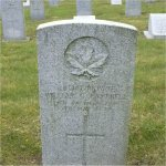 """Grave Marker– Grave of 463747 Pvt. William George Campbell who served with the 14th Battn. C.E.F.  He was born in Stellerton BC on April 7th 1896.  William enlisted into the 62nd Battn. (Replacement) C.E.F. at Camp Vernon BC on Aug. 24th 1915, he listed his occupation as """"Machinist""""  William died at Vancouver Bc of the Spanish Flu on May. 9th 1919 at the age of 22.  He was laid to rest in the Mountain View cemetery of Vancouver BC"""