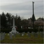 Cemetery– Cemetery view of the section where 17217 Pvt. Andrew Diamond who served with the 7th Battn. C.E.F. was laid to rest in the Mountain View cemetery of Vancouver BC
