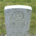 """Grave Marker– Grave of 116193 Pvt. Louis Lanthier who served with the 11th Canadian Mounted Rifles C.E.F.  Born in Papin Valli Quebec on Jan. 30th 1871.  Louis enlisted into the C.E.F. at Vancouver BC on April 13th 1915 listing his occupation as a """"Teamster"""" Louis died at Vancouver BC on Nov. 30th 1917 at the age of 46.  He was laid to rest in the Mountain View cemetery of Vancouver BC."""