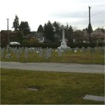 Cemetery– Cemetery view of the section where 23450 Corp. Frederick Charles Townsend  was laid to rest in the Mountain View Cemetery of Vancouver BC.
