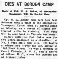 Newspaper clipping– From the Daily Colonist of June 14, 1917. Image taken from web address of https://archive.org/stream/dailycolonist59y160uvic#page/n0/mode/1up