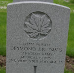 Grave Marker– This photograph was taken in the spring of 2008 at Ross Bay Cemetery, Victoria, B. C., Canada.