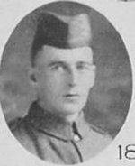 """Photo of Alexander Christie– Photo taken from """"A Short History and Photographic Record of the 73rd Battalion, Canadian Expeditionary Force, Royal Highlanders of Canada"""" Page 44.  'E' Company."""