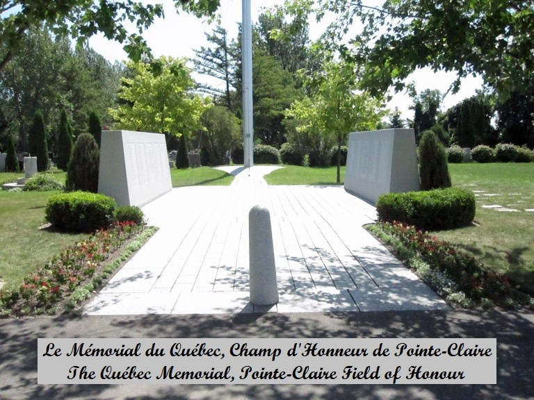 The Quebec Memorial, Pointe Claire Field Of Honour