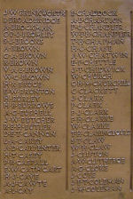 Inscription– The panel on the Town Memorial, Dover, Kent, England, where Private Claringbould is commemorated. Information gathered by the Dover War Memorial Project