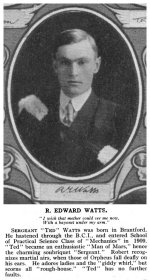 Photo de Robert Edward Watts – Torontonensis 1913 (L'annuaire de l'Université de Toronto), pg. 173.