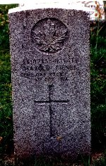 Grave marker– CWGC tombstone Riverside Cemetery. There is a family monument as well.