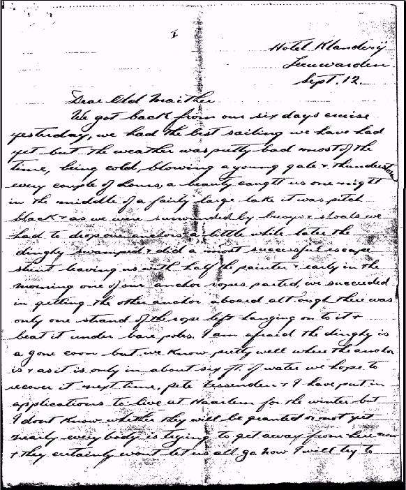 Letter from Edward Bath