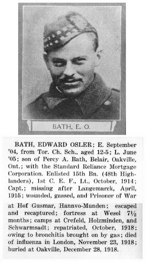 Photo of Edward Osler Bath