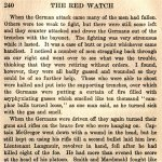 """The Red Watch– Captain Edward Osler Bath's heroism during the 2nd battle of Ypres in April 1915 is described by Col. J. A. Currie in his 1916 account of the 48th Highlanders in Belgium (15th Battalion CEF).   """"The Red Watch - With the First Canadian Division in Flanders"""" was published in Toronto and dedicated to the memory of the Canadian soldiers who fell in Flanders.   Currie describes the experiences of the 48th from training in Canada to further training at Salisbury Plain in England and their participation in the 2nd battle of Ypres in mid 1915."""