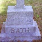 Gravemarker– Edward Osler Bath's grave stone.