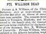 Coupure de presse – Article du Markham Economist and Sun du 11 septembre 1917.