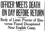 Newspaper Clipping (2)– From the Toronto Star for 2 April 1919.