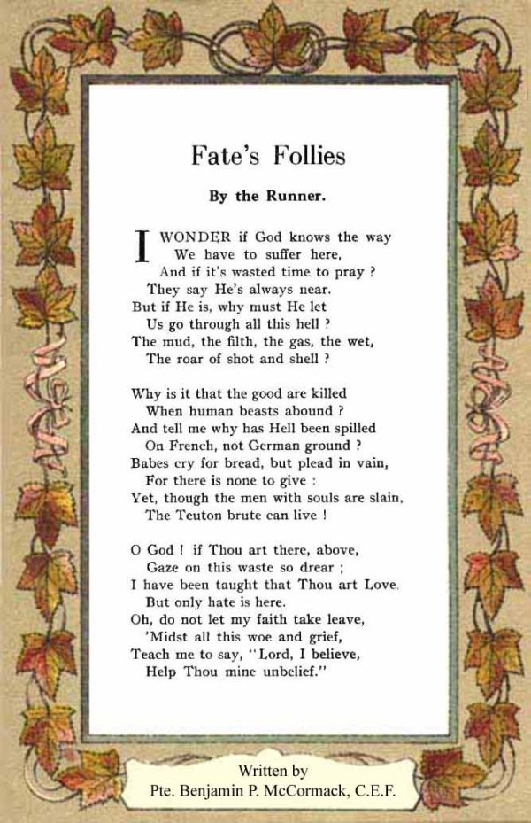 Poem - Fate's Follies