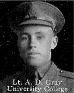 Photo of Douglas Gray– From: The Varsity Magazine Supplement published by The Students Administrative Council, University of Toronto 1916.  