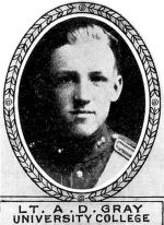 Photo of Douglas Gray– From: The Varsity Magazine Supplement Fourth Edition 1918