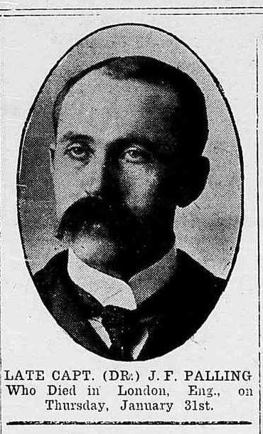 Newspaper Clipping– This picture appeared in the Northern Advance newspaper (Barrie, Ontario), at page 1, on February 7, 1918.