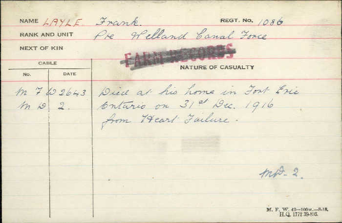 Circumstances of Death Registers– Died of heart failure http://www.collectionscanada.gc.ca/microform-digitization/006003-119.01-e.php?q2=36&q3=2891&sqn=857&tt=1329&PHPSESSID=1rrl4ggs82s4psi6vsrfnjfif2