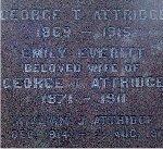 Inscription– Detail of the inscription on the Attridge family memorial.