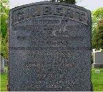 Monument– Lt. Anson Elliott Gilbert is remembered on the Gilbert family monument at Hamilton Cemetery, Hamilton, Ontario, Canada.