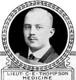Photo of Charles Thompson– From: The Varsity Magazine Supplement Fourth Edition 1918 published by The Students Administrative Council, University of Toronto.   Submitted for the Soldiers' Tower Committee, University of Toronto, by Operation Picture Me.