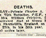 Newspaper Clipping– Memorial Notice