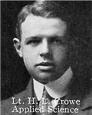 Photo of Harry Crowe– From: The Varsity Magazine Supplement published by The Students Administrative Council, University of Toronto 1916.   Submitted for the Soldiers' Tower Committee, University of Toronto, by Operation Picture Me.
