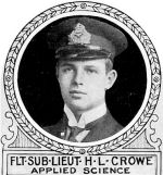 Photo of Harry Crowe– From: The Varsity Magazine Supplement published by The Students Administrative Council, University of Toronto 1918.   Submitted for the Soldiers' Tower Committee, University of Toronto, by Operation Picture Me.