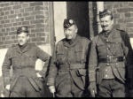 Group Photo– Commanding Officer LCol JA Currie (centre); Deputy Commanding Officer Maj WR Marshall (right) and, Adjutant Capt RC Darling (left) Belgium 1915 Photo from the archives of the Regimental  Museum of the 48th Highlanders of Canada, Toronto, ON Submitted by BGen G. Young 15th Battalion Memorial Project Team.  DILEAS GU BRATH