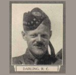 """Photo of Robert Clifford Darling– From """"The War Book of Upper Canada College"""", edited by Archibald Hope Young, Toronto, 1923.  This book is a Roll of Honour including former students who served during the First World War."""