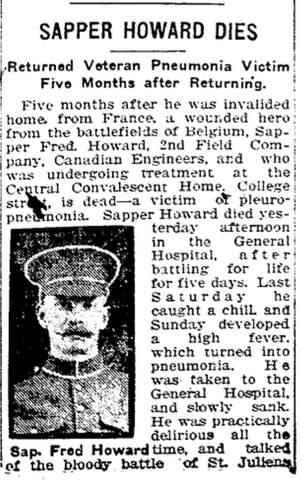 Photo of FREDERICK HOWARD– From the Toronto Star. Submitted for the project, Operation: Picture Me