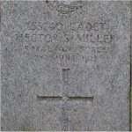 Grave marker– This photo of Cadet Hector Miller's grave was taken in October 2004. Mount Pleasant Cemetery, Toronto