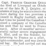 Press clipping– This casualty notice appeared in the November 7, 1918 issue of Flight, the journal of the Royal Aero Club of the United Kingdom.
