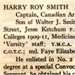 "Honour Roll– ""University of Toronto / Roll of Service 1914-1918"", 1921."