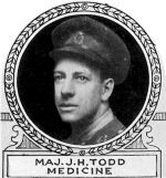 Photo of James Todd– From: The Varsity Magazine Supplement Fourth Edition 1918
