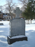Memorial– The Hanlan family monument is located at the Toronto Necropolis Cemetery.  Photo taken on Sunday February 1st, 2009.  In honoured memory.