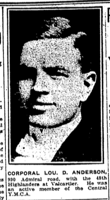 Newspaper Clipping– In memory of the members of the 15th, 92nd and 134th Battalions (48th Highlanders) who went and served in World War 1 and did not return. Submitted for the project, Operation: Picture Me