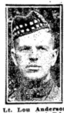 Photo of LOU DONALD ANDERSON– In memory of the members of the 15th, 92nd and 134th Battalions (48th Highlanders) who went to war and did not return. Submitted by the 48th Highlanders Museum 73 Simcoe St. Toronto for the project, Operation: Picture Me.
