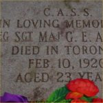 Grave marker– Grave Marker at Prospect Cemetery, Toronto.