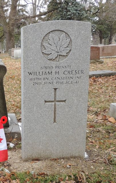 Grave marker– Prospect Cemetery, Toronto, Ontario